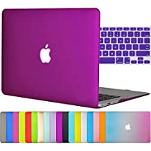 """Easygoby 2in1 Case For MacBook Air 13-inch - Matte Silky-Smooth Soft-Touch Snap-on Hard Shell Case Cover Skin For Apple MacBook Air 13.3"""" + Keyboard Cover - Deep Purple"""