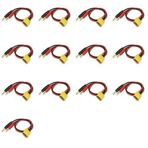 13 x Quantity of Walkera Runner 250 Racer XT-60 Charge Cable W/Male XT60 To 4mm Banana Plug (1pc) [並行輸入品] B07BFSL298