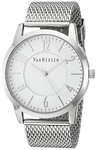 Van Heusen Men's Quartz Metal and Alloy Dress Watch, Color:Silver-Toned (Model: VAN8032)