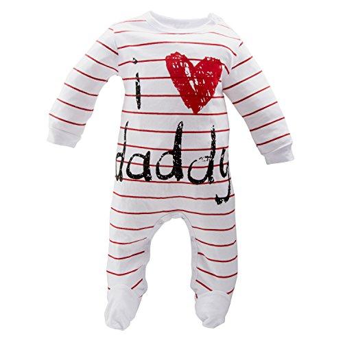 AOMOMO Unisex-Baby Newborn I Love Mummy I Love Daddy Bodysuit 2 Pack (3 Month) by AOMOMO (Image #2)