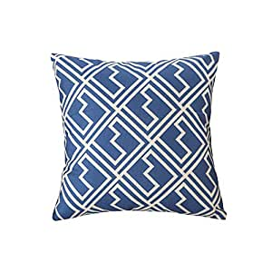 Amazon.com: Funif Linen Cushion Geometric Pattern Square ...