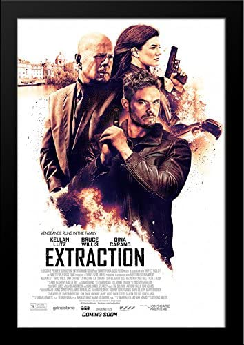Amazon Com Extraction 28x36 Large Black Wood Framed Movie Poster Art Print Posters Prints