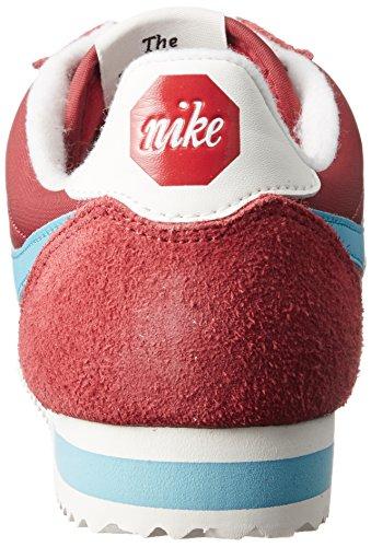 Nike Cortez Nylon Prem, Scarpe da Ginnastica Uomo Rosso (Varsity Red/Chlorine Blue/Sail)