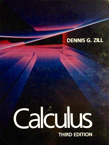 Calculus (Prindle, Weber and Schmidt Series in Mathematics)
