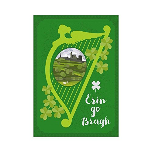 WAZZIT St.Patrick's Day Quote Polyester Garden Flag 28 x 40