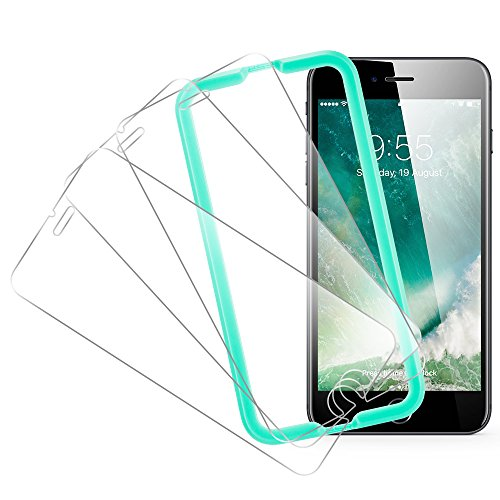 Price comparison product image iPhone 8 Screen Protector, [3-Pack] ESR [Force Resistant Up to 22 Pounds] iPhone 8 Tempered Glass with [Free Self-Installation Kit], Anti-Scratch, Case Friendly for 2017 4.7-inch iPhone 8 7 6s 6