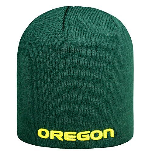 Top of the World NCAA Classic Knit Beanie Hat-Oregon Ducks