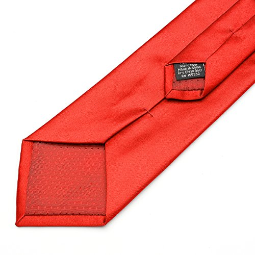 in Work Men Plain Color Solid Ties for Satin 22 Party Polyester Classic red Neck 17 Wedding Neckties Formal Pure Colors PwSZn