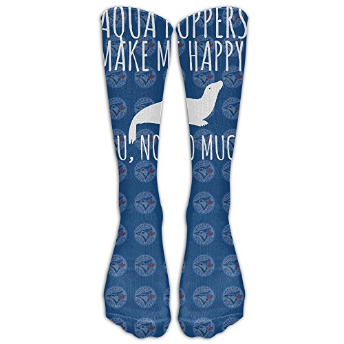 Sea Gals Costume (Sea Lion Aqua Puppers Make Me Happy 1 Pair Over-The-Calf Socks Cosplay Socks Knee High Lightweight Ribbed Dress Stockings)