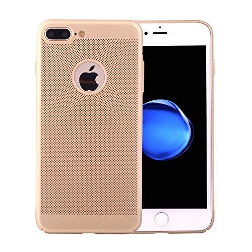 MXNET IPhone 7 Plus Fall, leichter Breathable voller Abdeckung PC Shockproof schützender rückseitiger Abdeckungs-Fall CASE FÜR IPHONE 7 PLUS ( Color : Gold )