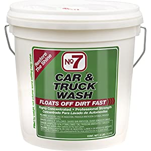 No7 Car & Truck Wash: Concentrated Powder, 4 lb Bucket
