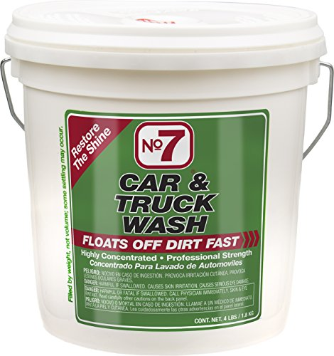 No7 Car & Truck Wash: Concentrated Powder, 4 lb Bucket ()