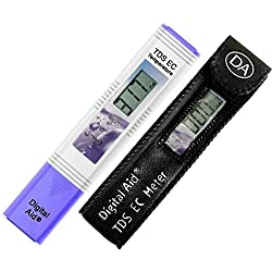 Digital Aid Professional TDS, EC & Temperature Meter. 3 in 1. Professional Quality TDS Meter:0-9990ppm. Accurate and Reliable Water Test Meter. Ideal for Drinking Water, Aquariums. With Leather Case.