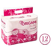Origami So Soft 3 ply Toilet Tissue 12 rolls 160 pulls per