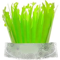 Greencolourful Reptile Supplies Terrarium Humidifier Creative Grass Shape Humidifier Terrarium Decoration No-power Humidifier