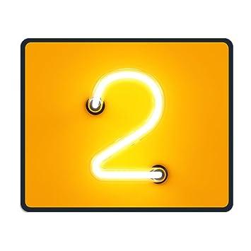 zhiqiandf Tubo de neón Luz de Neón dígitos alfabeto Character dos letra carta Glow Comfy mousepadsconsoles: Amazon.es: Oficina y papelería