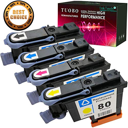 - Tuobo Compatible HP80 printheads with New Updated Chips fit for HP DesignJet 1050c 1050c Plus 1055C 1055cm 1055cm Plus (1BK 1M 1Y 1C 1Set)