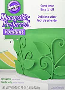 Wilton 710-2307 Decorator Preferred Fondant, 24-Ounce, Green