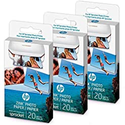 HP Original Zink sticky paper for HP Sprocket – 60 sheets (Three packs)