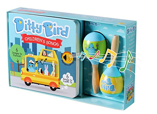 OUR BEST GIFT BOX: ​INTERACTIVE CHILDREN'S SONGS BOOK & TOY MARACAS for BABIES. Baby Musical Book. Music Toys. Birthday Gifts for​ ​one year old. 1 year old boy gifts. 1 year old girl gifts. by Ditty Bird