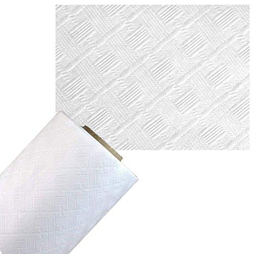 Nappe papier damassée 60g - 1.20X50m - blanc - le rouleau Invitalafete