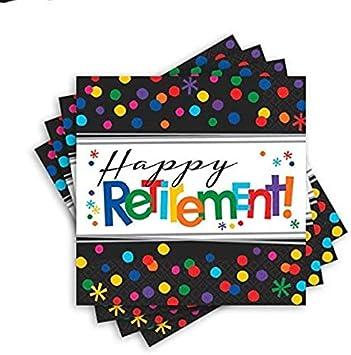 Retirement Luncheon Paper Napkins Party Supplies 16 Pieces