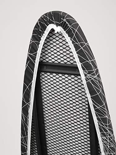 161x45x15 cm Negro Metal Jata Hogar TP520 Tabla de Planchar Ajustable en Altura y Plegable