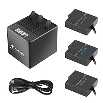 Artman - Batería de Repuesto para GoPro Hero 5/6/7 (1480 mAh) y ...