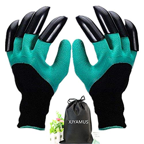Angels Garden Glove - Garden Genie Gloves, Waterproof Garden Gloves with Claw For Digging Planting, Best Gardening Gifts for Women and Men. (Green)