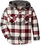 Lucky Brand Little Boys' Long Sleeve Hooded Shirt, Port Royal Flannel, 5