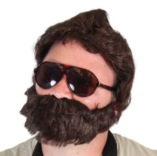 6bfaa360c31 Amazon.com  TV Store The Hangover Alan Costume Accessories Set (Baby  Carrier 2 Sunglasses Beard)  Clothing
