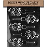 Dress My Cupcake DMCA083SET Chocolate Candy Mold, Small Turtle Lollipop, Set of 6