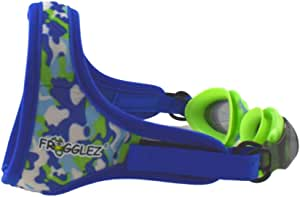 Frogglez Kids Swim Goggles with Pain-Free Strap | Ideal for Ages 3 – 10 in Swimming Lessons | Leakproof, No Hair Pulling, UV Protection | Recommended by Olympic Swimmers