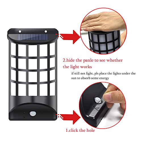 Patio Lights Wireless: Solar Porch Light,AIJING Outdoor Garden Fence Lights Post