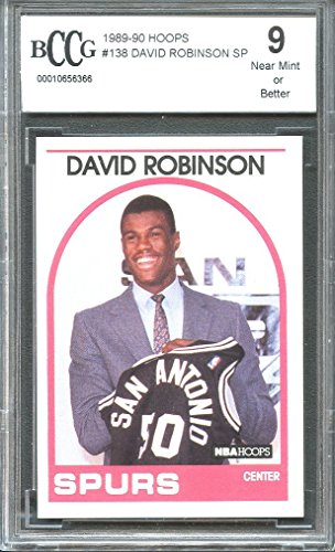 1989-90 hoops #138 DAVID ROBINSON SP san antonio spurs rookie card BGS BCCG 9 Graded Card -
