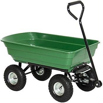 Best Choice Products 650LB Garden Dump Cart Wheelbarrow Wagon Carrier Air Tires Heavy Duty