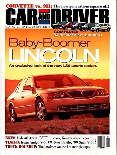 CAR AND DRIVER MAGAZINE MAY 1998