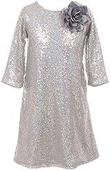 Shiny Sequin Short Sleeve Party Dress