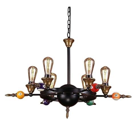 LCTCDD LED lámpara de billar retro, estilo colgante Industrial ...