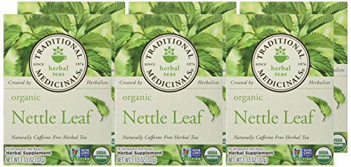 Traditional Medicinals Organic Nettle Herbal Leaf Tea, 16 Tea Bags (Pack of 6) - incensecentral.us
