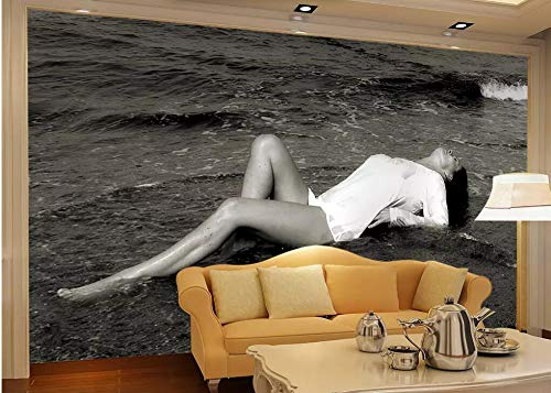 Wall Mural 3D Mediterranean Sexy Girl Wallpaper 3D Large Murals Modern Living Room Bedroom Wall Decoration