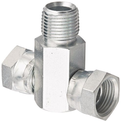 Eaton Weatherhead 9406X8X8X8 Carbon Steel Fitting, Swivel, Branch Tee, 1/2