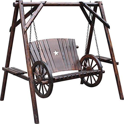 (Leigh Country TX 94077 Wagon Wheel Swing with)