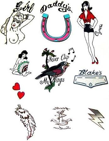 Amy Winehouse Fancy Dress Tattoos Deluxe - Set of 10 (tatuajes ...