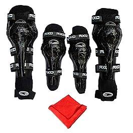 Casago Universal Shin Guard Knee Pad with Flexible Breathable Adjustable Straps – 4 Pieces