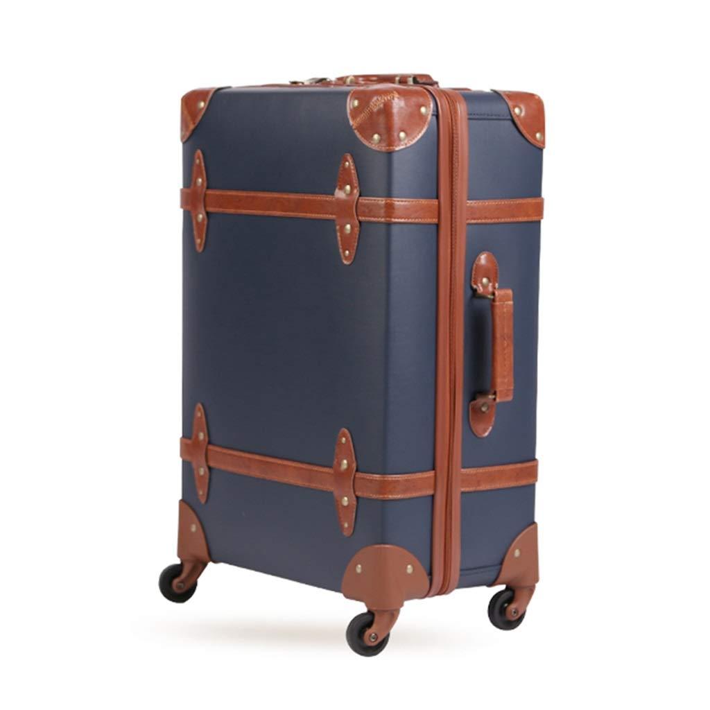 ZHAOSHUHLI レトロスーツケース学生ユニバーサルホイール男性と女性TSAパスワードスーツケース搭乗トロリーケース (色 : 青, サイズ さいず : 20'') 20'' 青 B07R1LLVPM