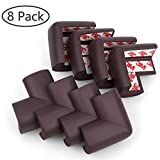 Corner Bumpers, Trippix Baby Proofing Safety Corner Edge Guards, Child Safety Home Safety Furniture Bumpers and Table Edge Corner Protectors, Coffee Brown Pack of 8