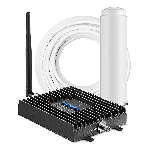 (SureCall Fusion4Home Omni/Whip, Cell Phone Signal Booster Kit for All Carriers 3G/4G LTE up to 2,000 Sq Ft - SC-PolyH-72-ORA-Kit)