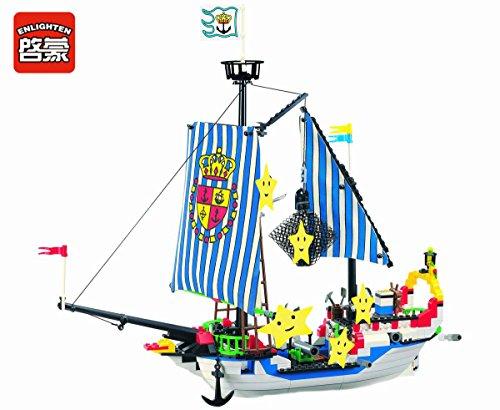 Enlighten Building Block Royal Pirate Ship c/w 6 Figures 310pcs (Without Original Packing Box)