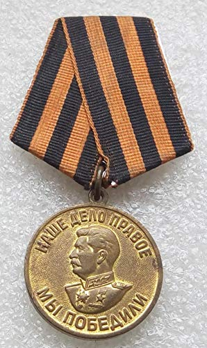 We Won For the Victory over Germany WW II Original USSR Soviet Union Russian military Communist Bolshevik Medal St. George Ribbon